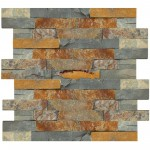 Panel Ścienny RUSTY Stackstone Multicolor 36 x 10 cm