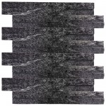 Panel Ścienny NERO Stackstone Black 36 x 10 cm